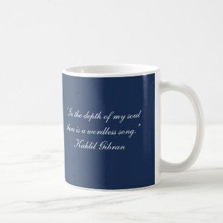 Caneca De Café Citações sem palavras de Gibran da Canção-Kahlil
