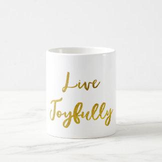 Caneca De Café Citações vivas do ouro alegre