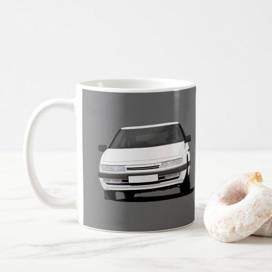 Caneca De Café Citroën XM no branco - duas imagens por