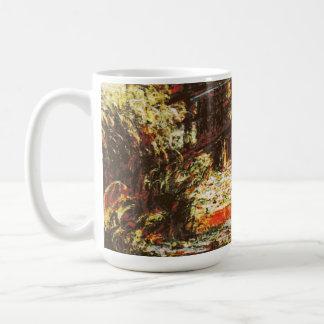 Caneca De Café Claude Monet - lírios de água e japonês Footbridg