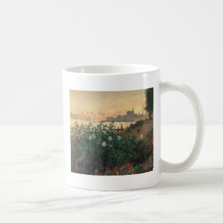 Caneca De Café Claude Monet - Riverbank florescido Argenteuil