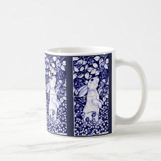 Caneca De Café Cobalto azul e branco de Dedham do azulejo da