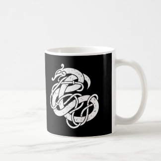 Caneca De Café Cobra do estilo de Viking Urnes