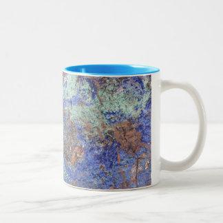 Caneca de café--Cobre azul