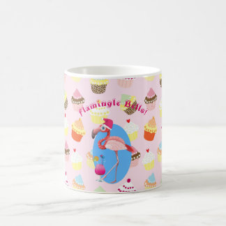 Caneca De Café Cocktail e cupcakes do Natal do flamingo! Costume
