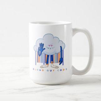 Caneca De Café Código da cara da nuvem de Trolls 