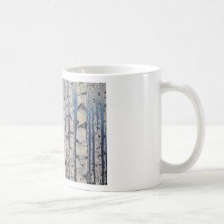 Caneca De Café Código Morse das árvores de vidoeiro