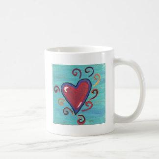 Caneca De Café Coleção vermelha dos corações