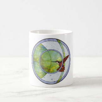 Caneca De Café Colibri do vitral