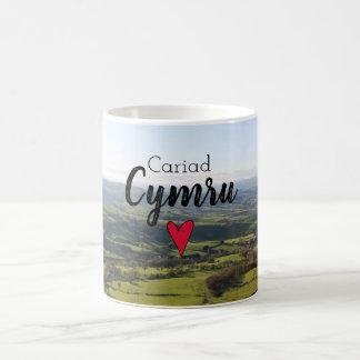 Caneca De Café Colinas de Galês da paisagem de Wales do amor de