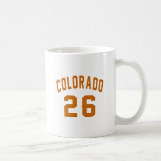 Caneca De Café Colorado 26 designs do aniversário