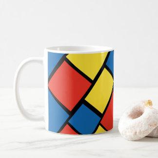 Caneca de café colorida brilhante