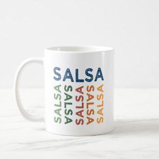 Caneca De Café Colorido bonito da salsa