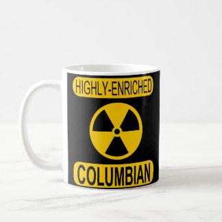Caneca de café Columbian altamente enriquecida