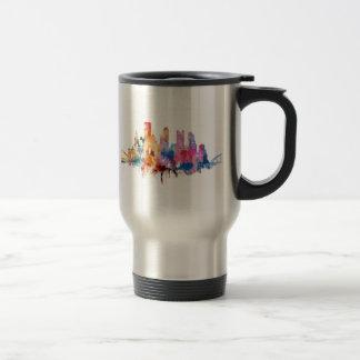 Caneca de café com a silhueta de Pitssburgh