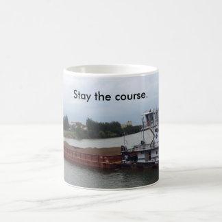 Caneca de café com barco & barca--permaneça o