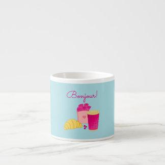 Caneca de café com design cor-de-rosa do pequeno