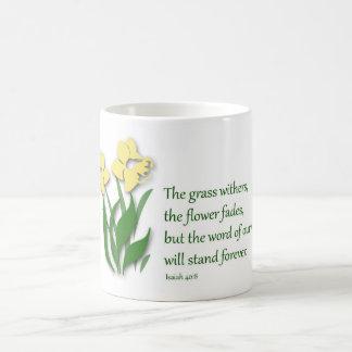 Caneca de café com design cristão - 40:8 de Isaiah