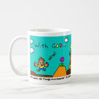 Caneca De Café Com deus… Todas as coisas são possíveis