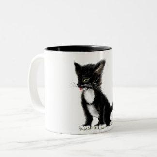 caneca de café com gato