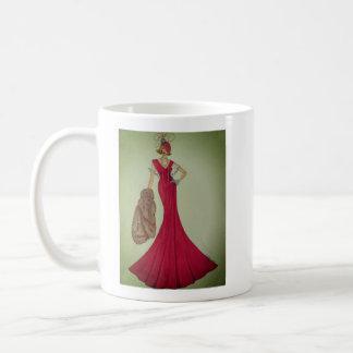 Caneca de café com ilustração da forma