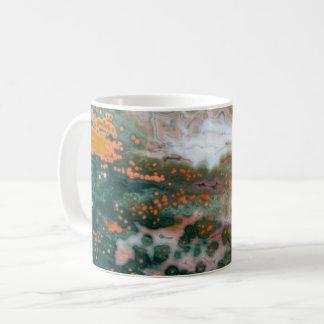 Caneca de café com jaspe do oceano
