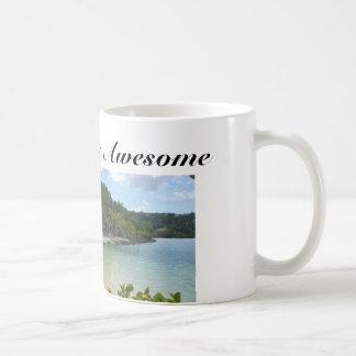 Caneca de café com praia e citações de Jamaica