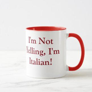 Caneca de café com provérbio italiano