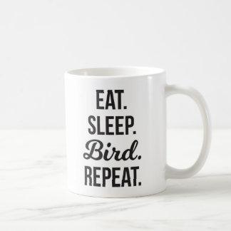 Caneca De Café Coma a repetição do pássaro do sono