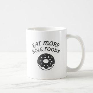 Caneca De Café Coma mais alimentos do furo