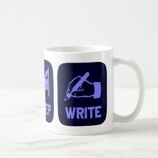 Caneca De Café Coma o sono escrevem