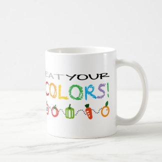 Caneca De Café Coma suas cores!