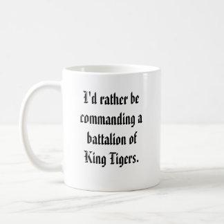 Caneca De Café Comandante do batalhão - rei Tigre