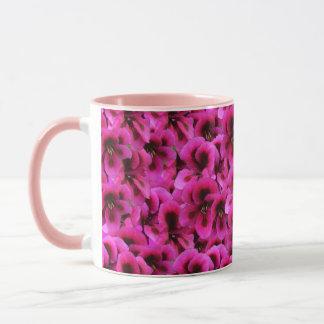 Caneca de café combinado do rosa magenta da flor