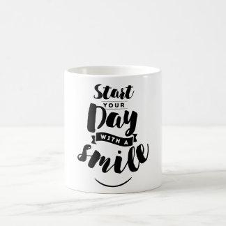 Caneca De Café Comece seu dia com umas citações inspiradas do