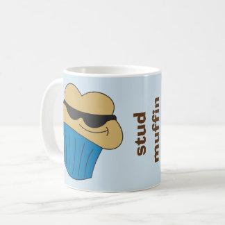 Caneca de café cómico do muffin do parafuso