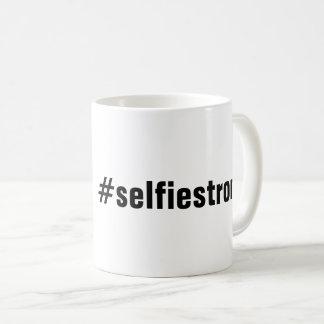 Caneca de café cómico do #selfiestrong
