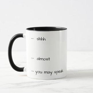 Caneca de café cómico - não me fale