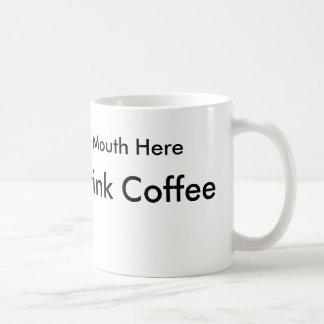 Caneca De Café Como beber o café para pessoas canhotas