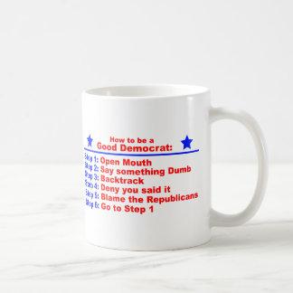 Caneca De Café Como ser uma boa Democrata