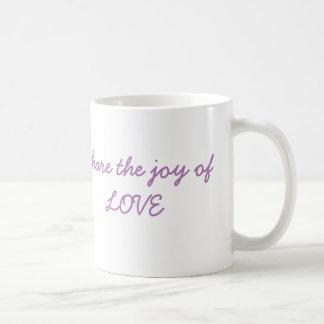 Caneca De Café Compartilhe da alegria do AMOR