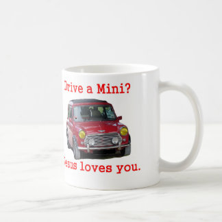 Caneca De Café Conduza um mini? Jesus ama-o
