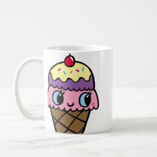 Caneca De Café Cone feliz do sorvete