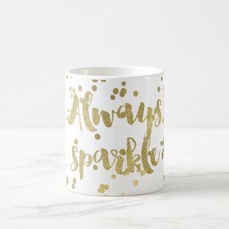 Caneca De Café Confetes do ouro da faísca