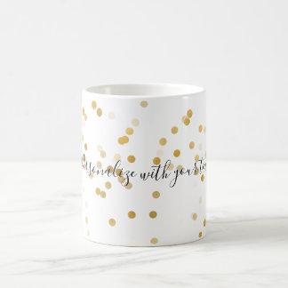 Caneca De Café Confetes personalizados do ouro