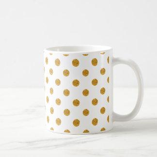 Caneca De Café Confetes Sparkling brancos Dots11 onça ClassicMug