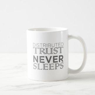 Caneca De Café Confiança: A confiança distribuída nunca dorme
