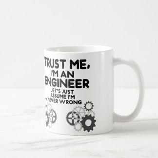 Caneca De Café Confie-me, mim são um engenheiro engraçado