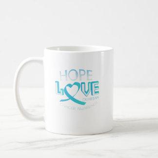 Caneca De Café Consciência do câncer de ovário do apoio do amor