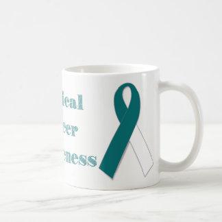 Caneca De Café Consciência do cancro do colo do útero